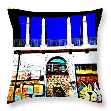 Run Down Valparaiso Buildings Throw Pillow