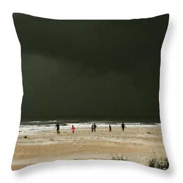 Throw Pillow featuring the photograph Run by LeeAnn Kendall