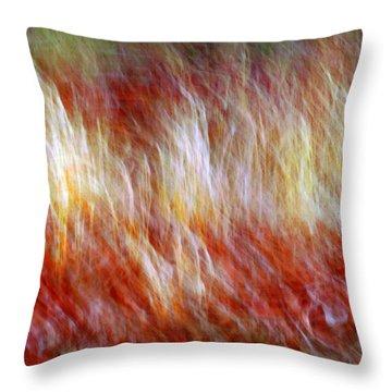 Run Like Hell Throw Pillow by Linda Sannuti
