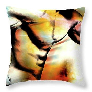 run Throw Pillow by Mark Ashkenazi