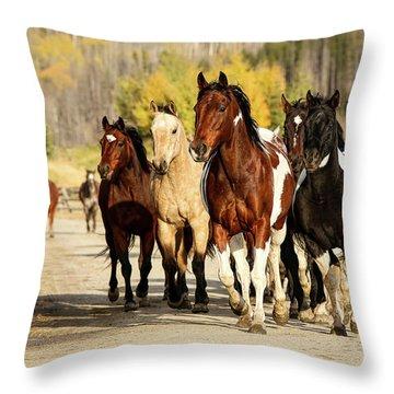 Run Out Throw Pillow by Sharon Jones