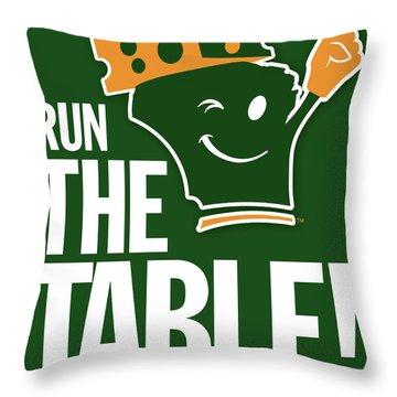 Run The Table Throw Pillow