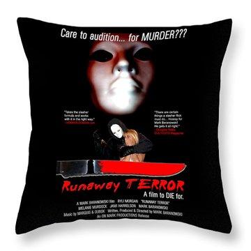 Runaway Terror Poster Throw Pillow