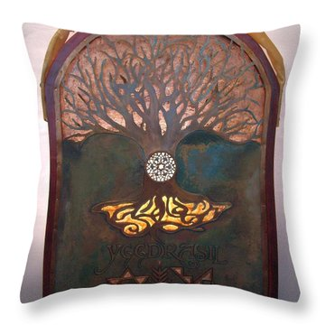 Runes For Restoration Illuminated Throw Pillow