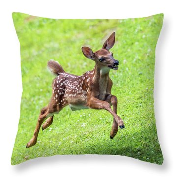 Running And Jumping Throw Pillow