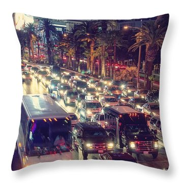 Running Around On Fossil Fuel Throw Pillow