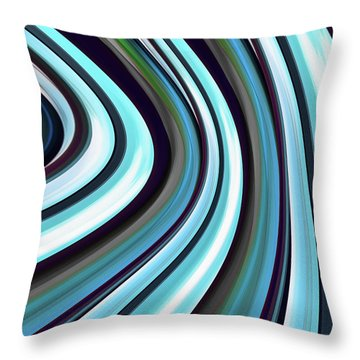 Throw Pillow featuring the digital art Running Blue by Wendy J St Christopher