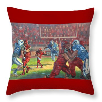 Running Courage Throw Pillow by Jeff Brimley