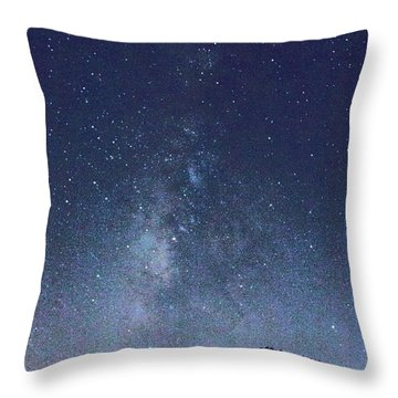 Running Dog Tree And Galaxy Throw Pillow