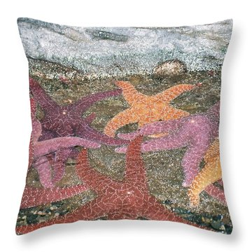 Running For The Tide Throw Pillow