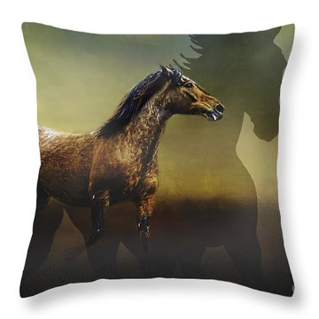 Running Free Throw Pillow by Eleanor Abramson