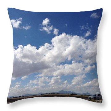 Running Hills Throw Pillow