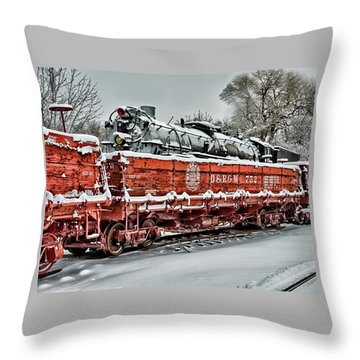 Running Out Of Steam Throw Pillow