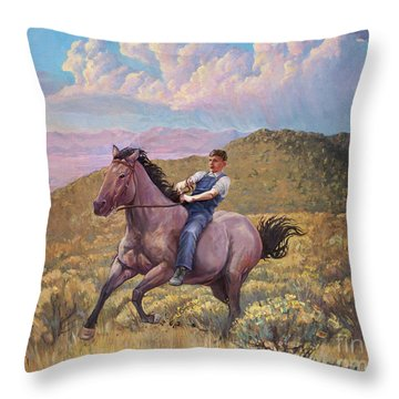 Runaway Roan Throw Pillow