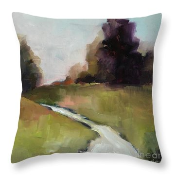 Running Stream Throw Pillow