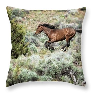Throw Pillow featuring the photograph Running Through Sage by Belinda Greb