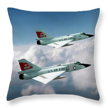 Running With The Bulls Throw Pillow