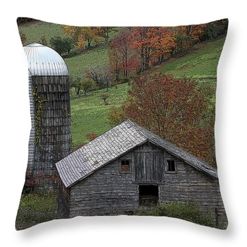 Rupert Mountain Face Barn Throw Pillow