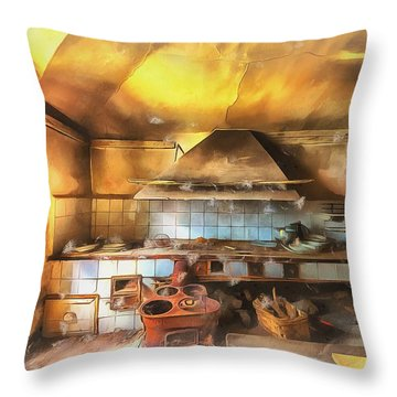 Rural Culinary Atmosphere Nr 2 - Atmosfera Culinaria Rurale IIi Paint Throw Pillow