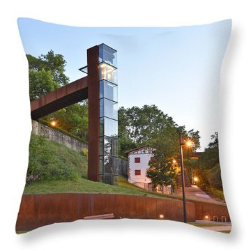 Rural Elevator Pamplona Spain Throw Pillow by Marek Stepan