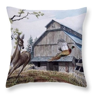 Rural Flush Throw Pillow