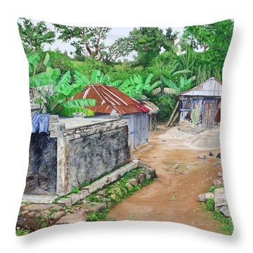 Rural Haiti - A Study In Poignancy Throw Pillow