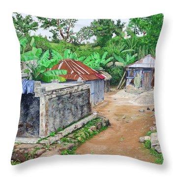 Rural Haiti - A Study In Poignancy Throw Pillow
