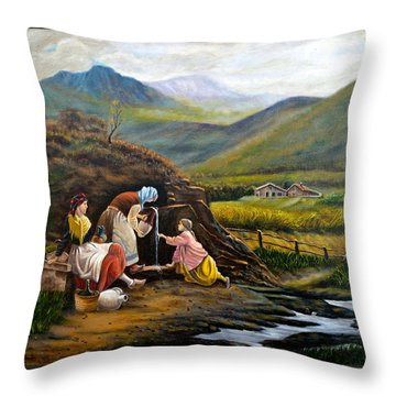 Rural Life Throw Pillow by Tony Banos