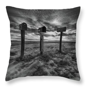 Rural Mail Throw Pillow by Ian McGregor
