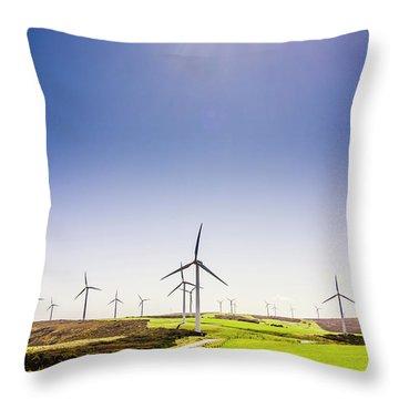 Rural Power Throw Pillow