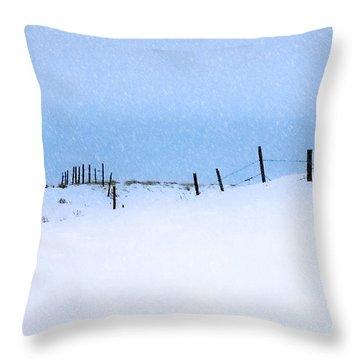 Rural Prairie Winter Landscape Throw Pillow