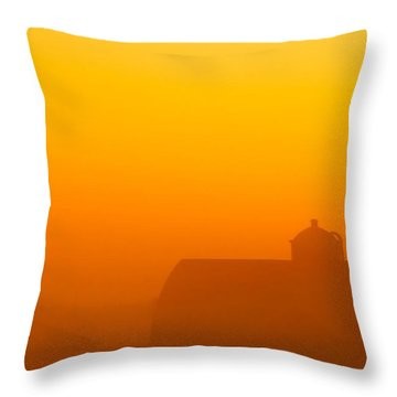 Rural Radiance Throw Pillow