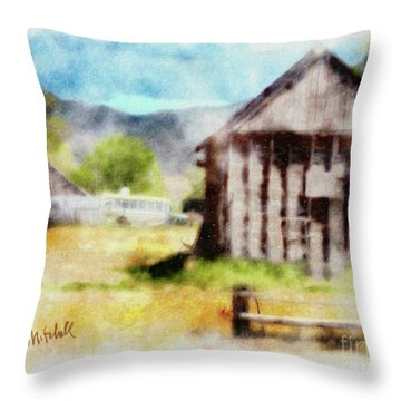 Rural Remnants Throw Pillow