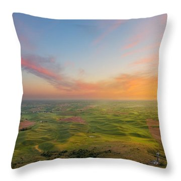 Throw Pillow featuring the photograph Rural Setting by Ryan Manuel