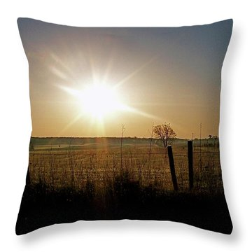 Rural Sunrise Throw Pillow by Sue Stefanowicz