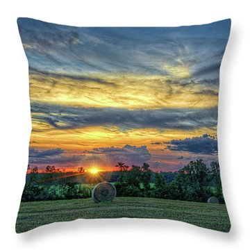 Throw Pillow featuring the photograph Rural Sunset by Lewis Mann