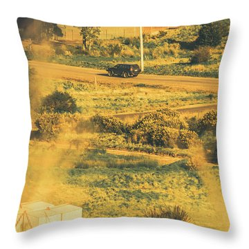 Rural Tasmania Landscape At Summer Throw Pillow