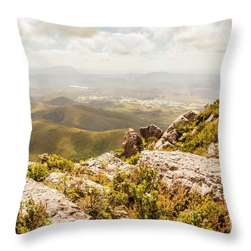 Rural Town Valley Throw Pillow