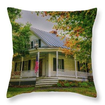 Throw Pillow featuring the photograph Rural Vermont Farm House by Deborah Benoit