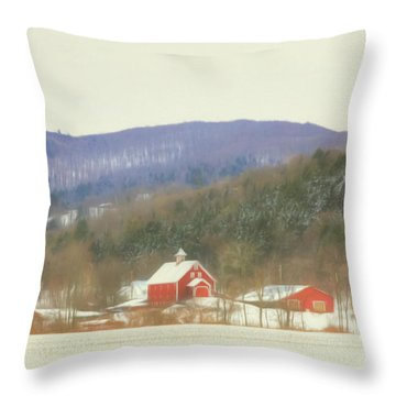 Rural Vermont Throw Pillow