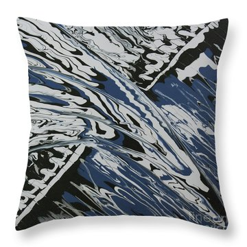 Throw Pillow featuring the painting Rush Drip by Cathy Beharriell