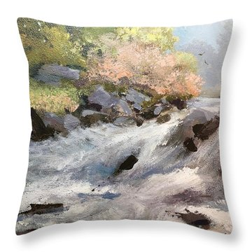 Throw Pillow featuring the painting Rush by Helen Harris