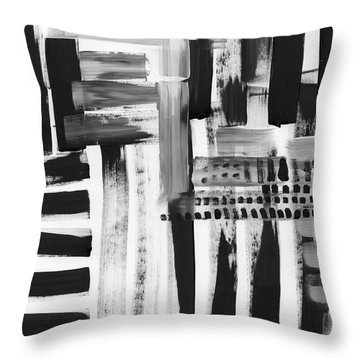 Throw Pillow featuring the mixed media Rush Hour- Art By Linda Woods by Linda Woods