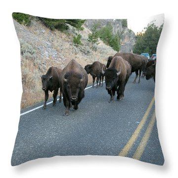 Rush Hour Throw Pillow by Michael Peychich