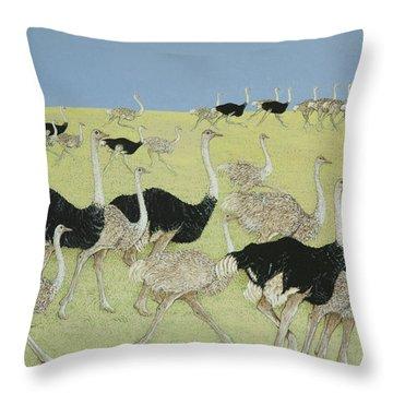 Rush Hour Throw Pillow by Pat Scott
