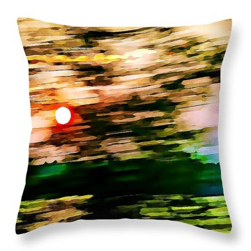 Rush To Go Home Throw Pillow