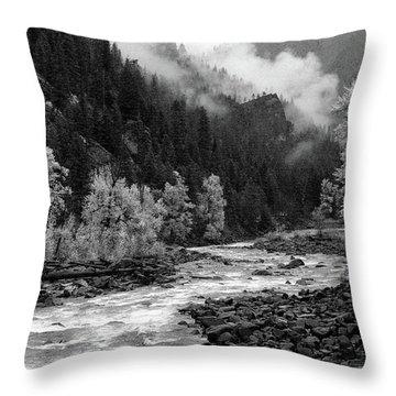 Rushing River Throw Pillow