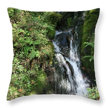 Rushing Water Throw Pillow