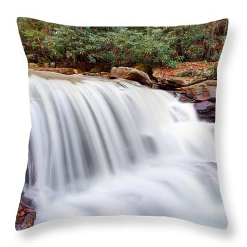 Rushing Waters Of Decker Creek Throw Pillow