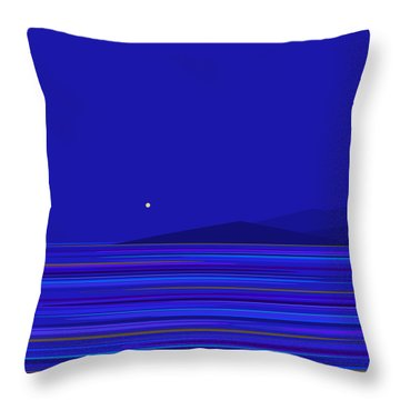 Throw Pillow featuring the digital art Rushing Waters by Val Arie